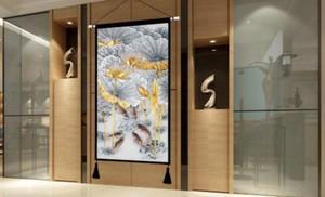 中式玄关壁画效果图