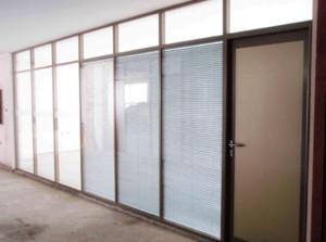玻璃墻辦公室隔斷效果圖