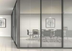 辦公室玻璃隔斷墻效果圖