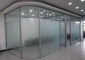 辦公室玻璃隔斷墻裝修效果圖