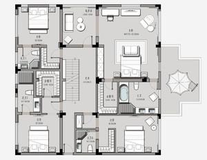 簡單別墅平面圖