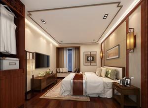 中式臥室壁燈效果圖