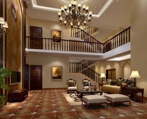 6米高客廳地面拼花圖