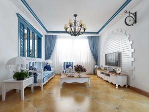 客厅仿古砖铺贴效果图