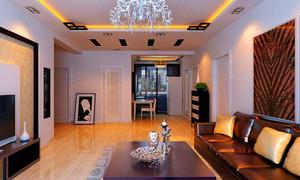 家裝客廳跟餐廳的棚頂造型圖