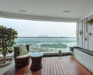 陽臺石膏板吊頂最新造型圖片