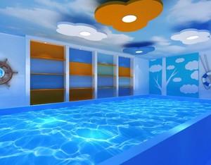 儿童游泳池平面布置图
