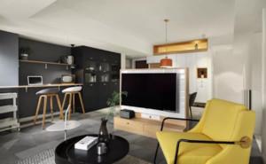 飯廳和客廳電視墻隔斷效果圖