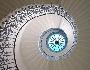 雙重螺旋樓梯效果圖