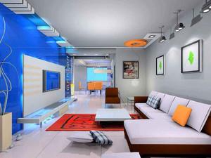 客廳棚頂創意造型效果圖