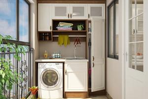 陽臺水槽洗衣機效果圖