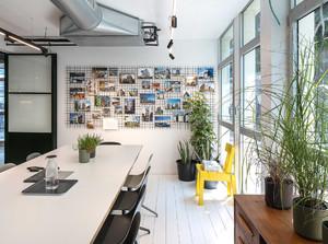 辦公室綠植擺放設計效果圖