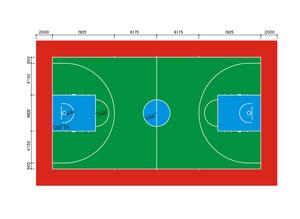 最新標準籃球場平面圖