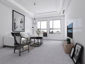 客廳淺灰色仿古地板磚圖片