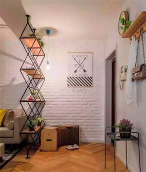 客廳花架花雕隔斷效果圖
