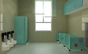 开放式幼儿园卫生间装修效果图赏析