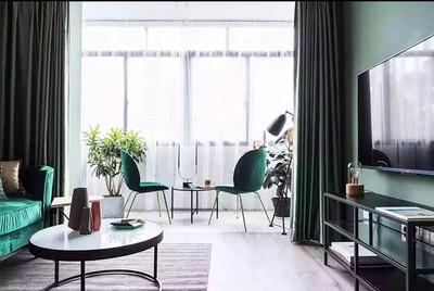 客廳和陽臺窗簾效果圖大全