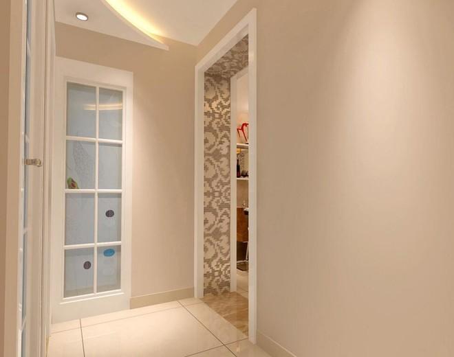 大门正对卫生间玄关设计图