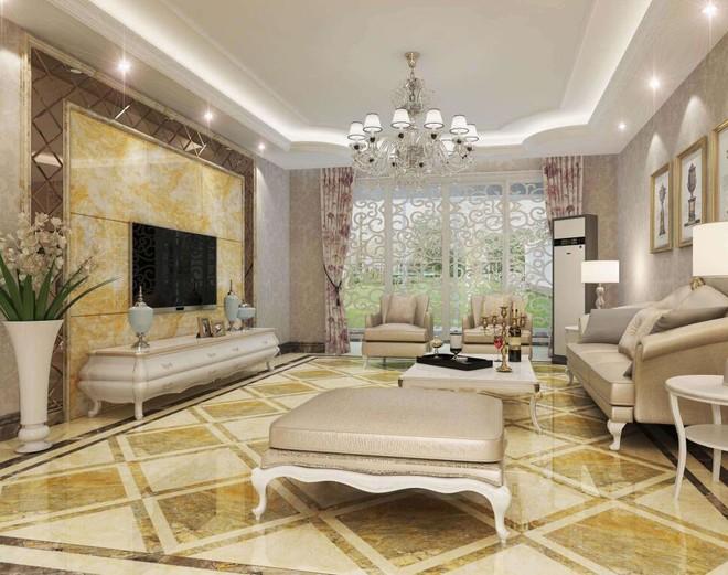 欧式客厅瓷砖颜色搭配效果图