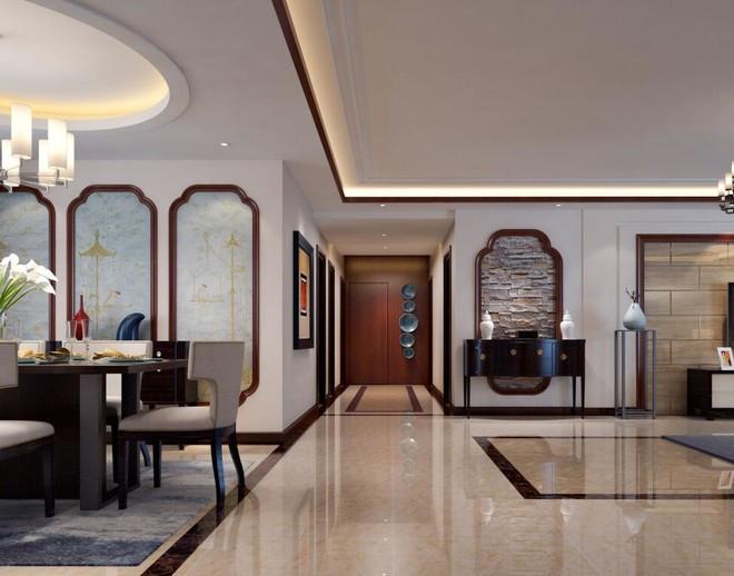 客厅有走廊地砖怎么铺效果图