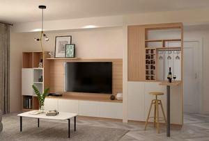 中式客廳電視柜帶酒柜效果圖大全