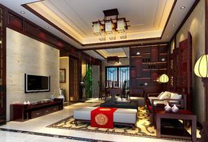 中式客廳酒柜裝修效果圖欣賞