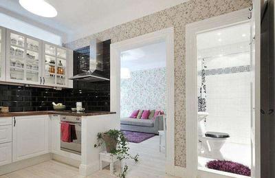 30平米衛生間廚房客廳隔斷效果圖