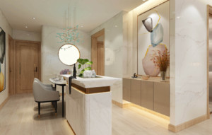 衛生間與客廳裝飾隔斷效果圖
