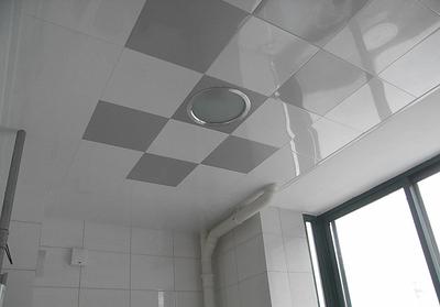 灰色卫生间集成吊顶效果图