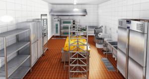 餐館廚房地面防水剖面圖