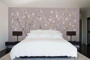 酒店床頭背景壁畫圖片大全