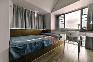 20平米單身公寓簡約時尚貝殼粉臥室裝修效果圖