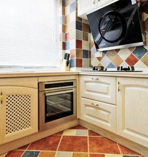 三居室6平方廚房田園風格裝修效果圖