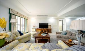 復式樓簡歐風格45平米客廳吊燈裝修效果圖