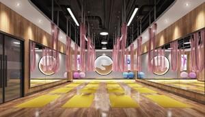 600平米小清新风格健身房吊顶装修效果图
