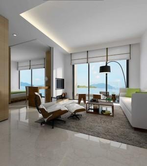 200平米別墅簡歐風格客廳地臺裝修效果圖