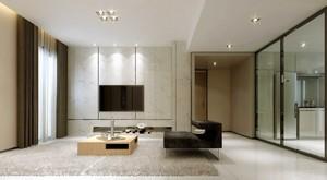 150平米三居室簡歐風格客廳地臺裝修效果圖