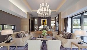 250平米別墅現代風格客廳地臺裝修效果圖