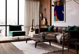 110平米復式新古典風格客廳地臺裝修效果圖