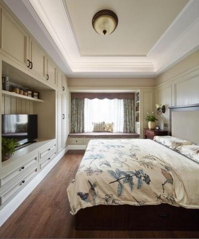 35平米仿古中式風格豪華公主臥室裝修效果圖