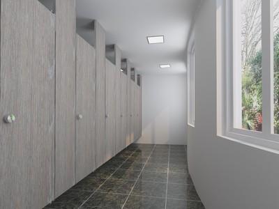 北欧现代风格商场卫生间装修效果图