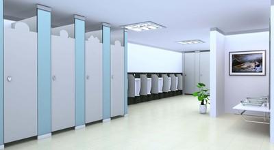 日式简约风格商场卫生间装修效果图