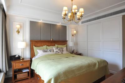 140平米別墅現代中式風格豪華公主臥室裝修效果圖