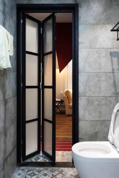 120平米现代创意风格卫生间暗门装修效果图