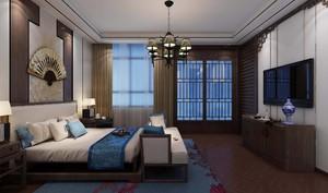 100平米三居室中式古典多功能臥室裝修效果圖
