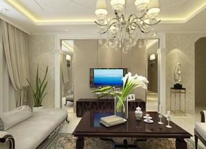 110平米大戶型北歐風格客廳鏡子裝修效果圖