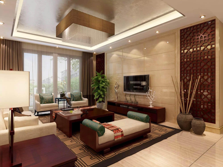 200平米房子古典风格玻璃电视墙装修效果图