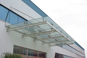 1000平廠房玻璃雨棚裝修效果圖