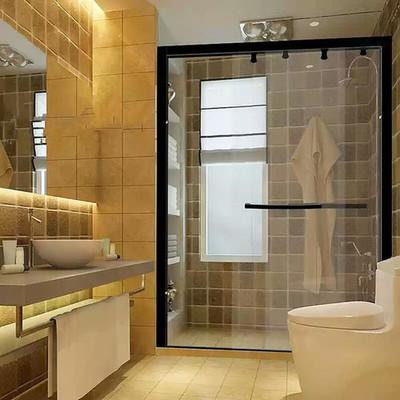 9平米卫生间玻璃浴室装修效果图