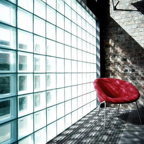 200平米房子现代黑白灰风格玻璃砖隔墙装修效果图